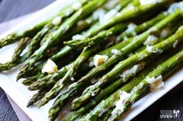 Blue Cheese Roasted Asparagus {Gimme Some Oven}