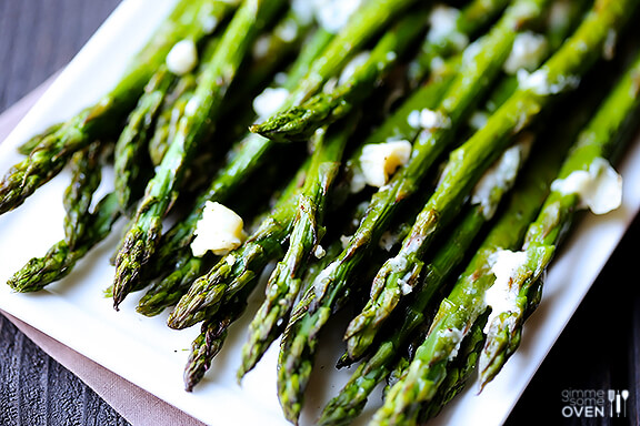 Blue Cheese Roasted Asparagus   gimmesomeoven.com