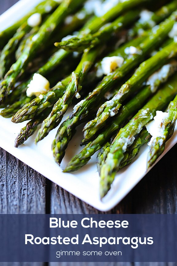 Blue Cheese Roasted Asparagus | gimmesomeoven.com