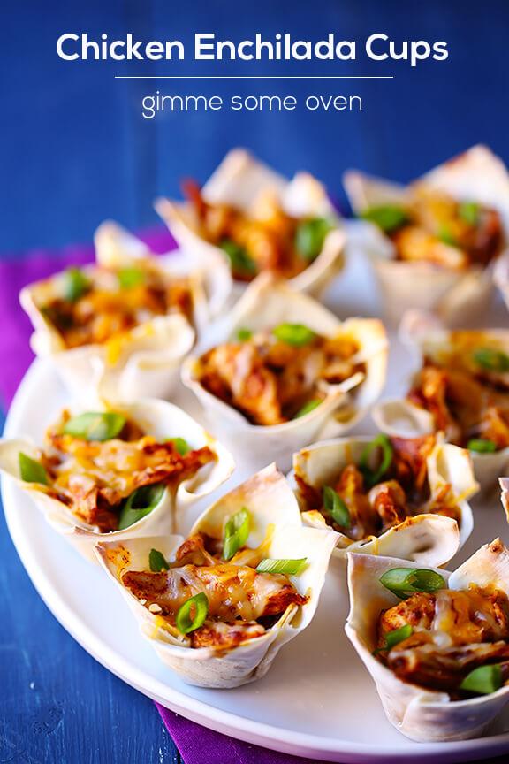 Chicken Enchilada Cups | gimmesomeoven.com