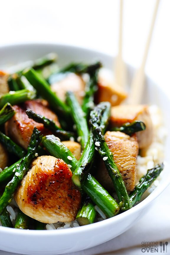 Chicken and Asparagus Stir-Fry | Gimme Some Oven