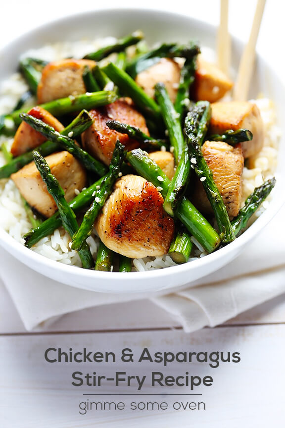 Chicken and Asparagus Recipe | gimmesomeoven.com