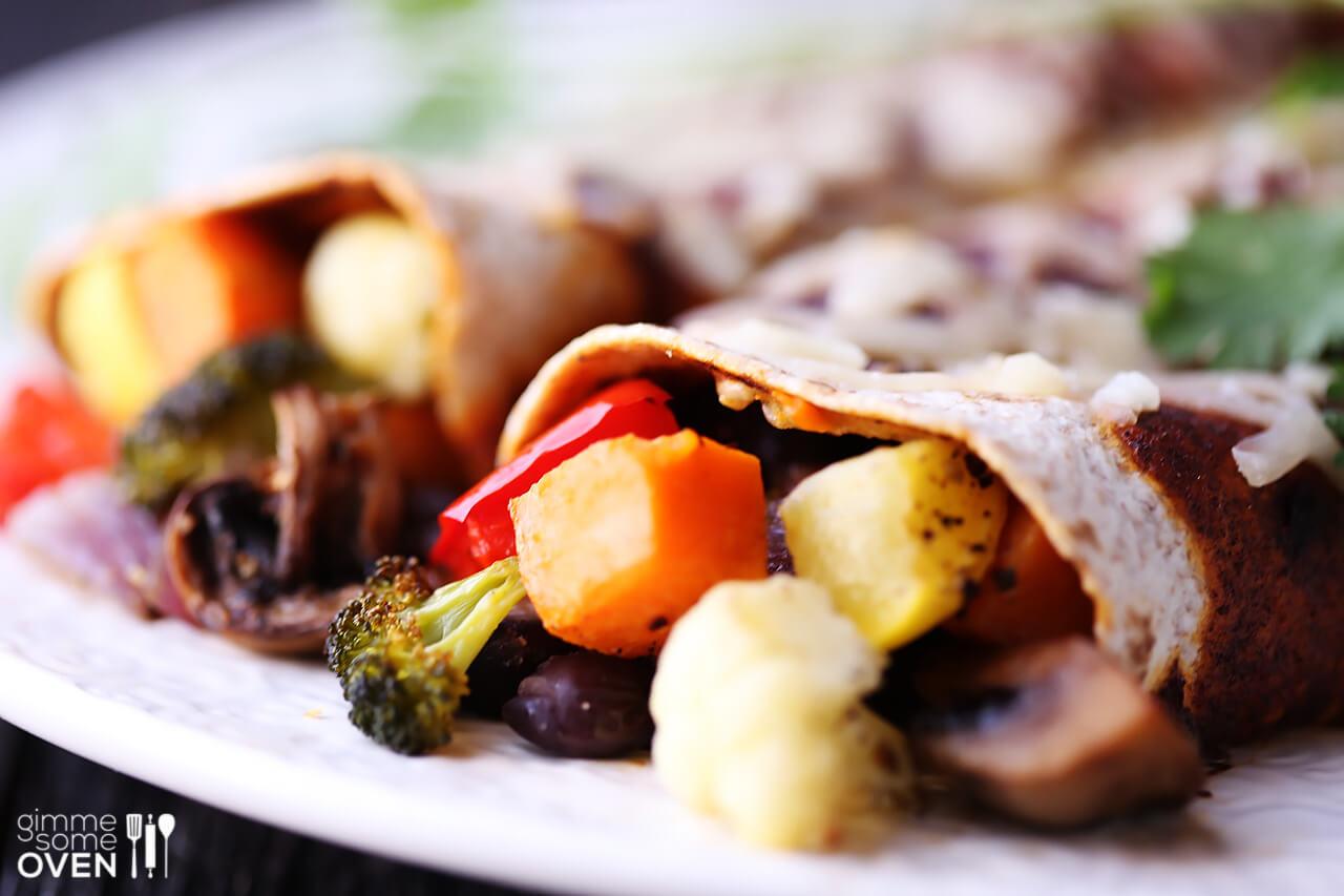 Roasted Vegetable Enchiladas | Gimme Some Oven