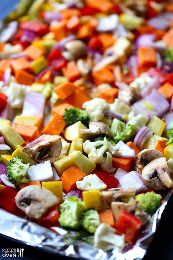 Roasted Vegetable Enchiladas | gimmesomeoven.com