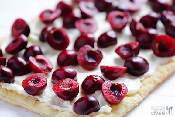 Easy Cherry Tart Recipe | gimmesomeoven.com #dessert
