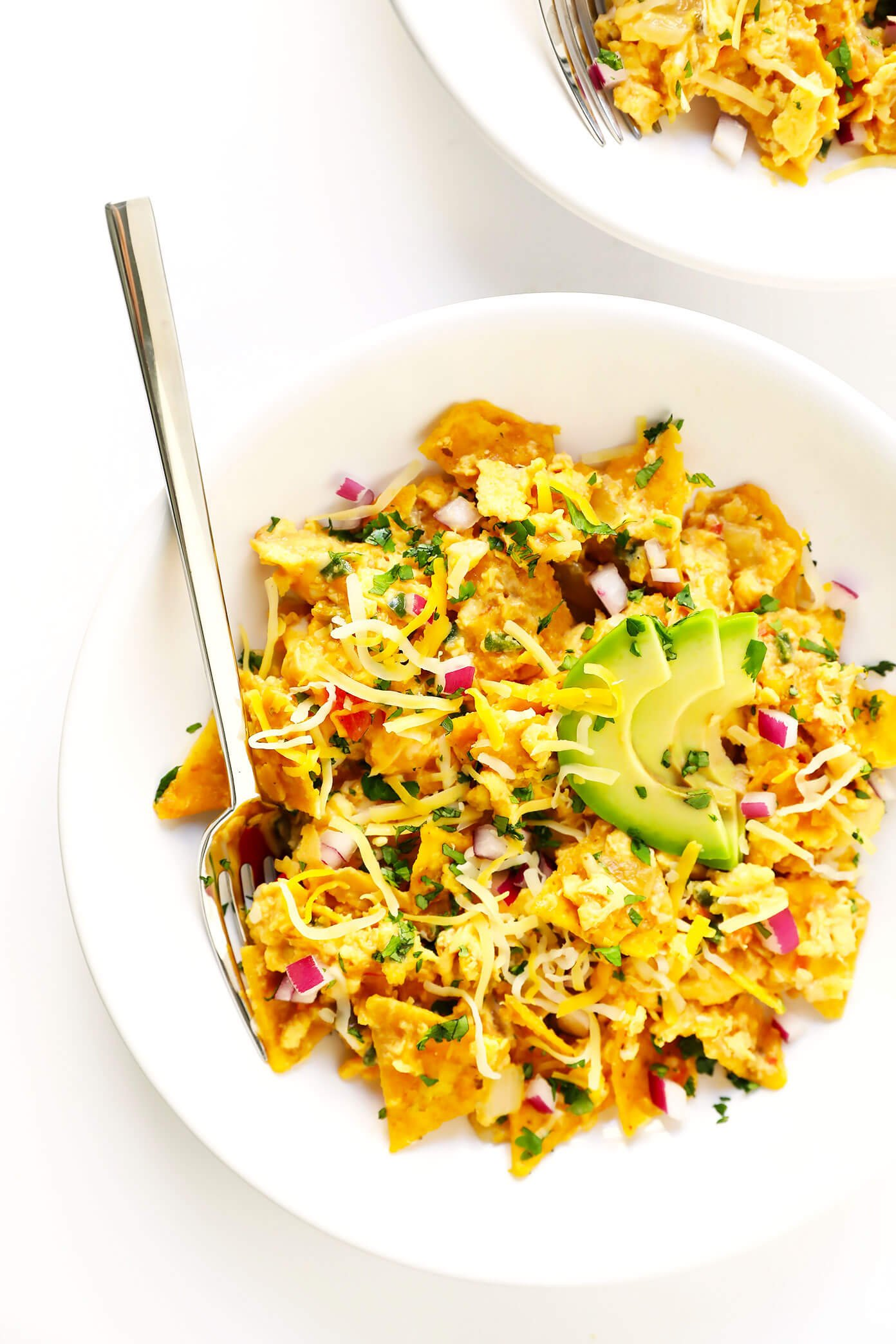 Tex-Mex Migas Recipe with Avocado