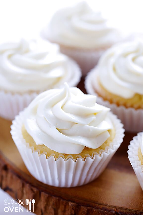 Honey Lemon Cupcakes w/ Honey Cream Cheese Frosting | Gimme Some Oven