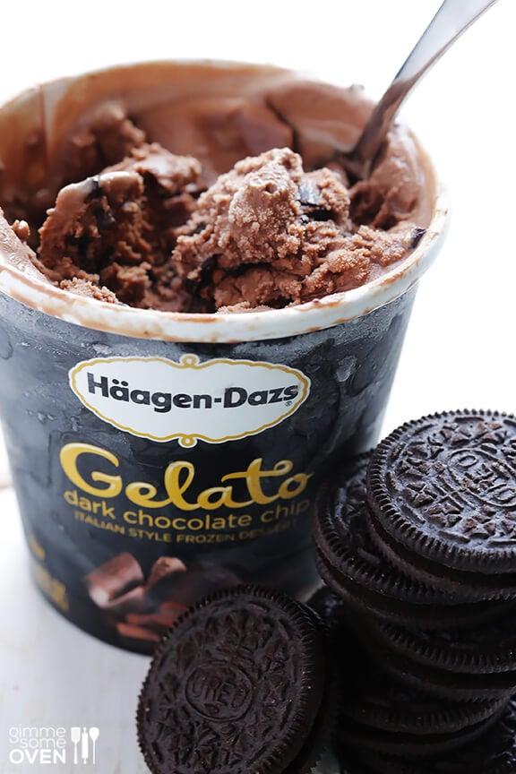 Oreo Ice Cream Truffles Recipe   gimmesomeoven.com #dessert #summer #icecream