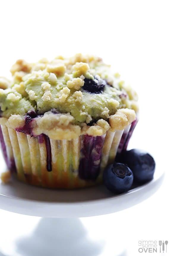 Avocado Blueberry Muffins | gimmesomeoven.com