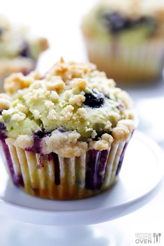 Avocado Blueberry Muffins Recipe   gimmesomeoven.com