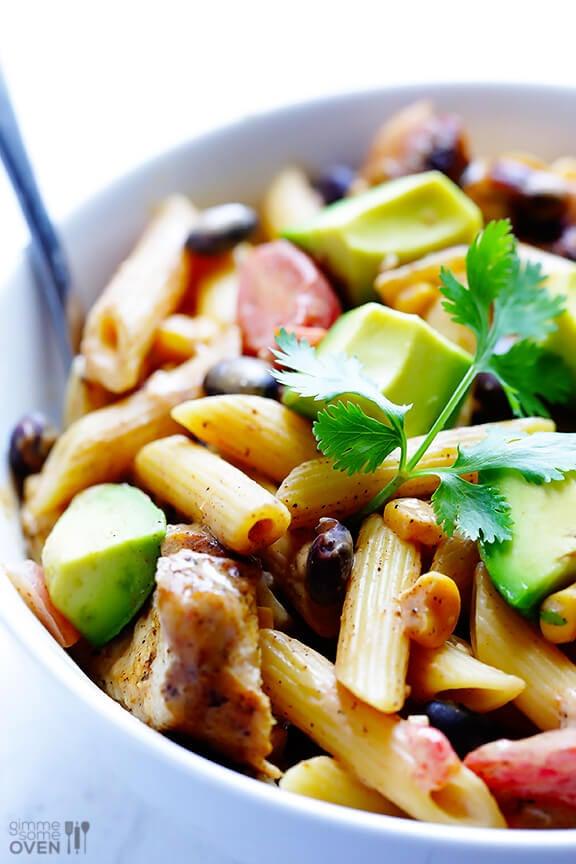 Creamy Mexican Chicken Pasta Recipe | gimmesomeoven.com