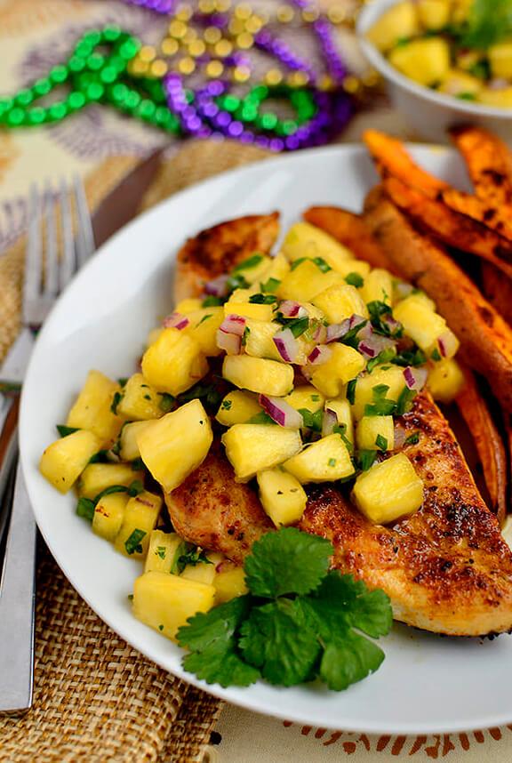 Mardi Gras Chicken   iowgirleats.com