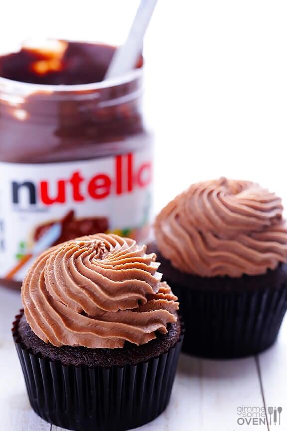 Nutella Cupcakes Recipe | gimmesomeoven.com