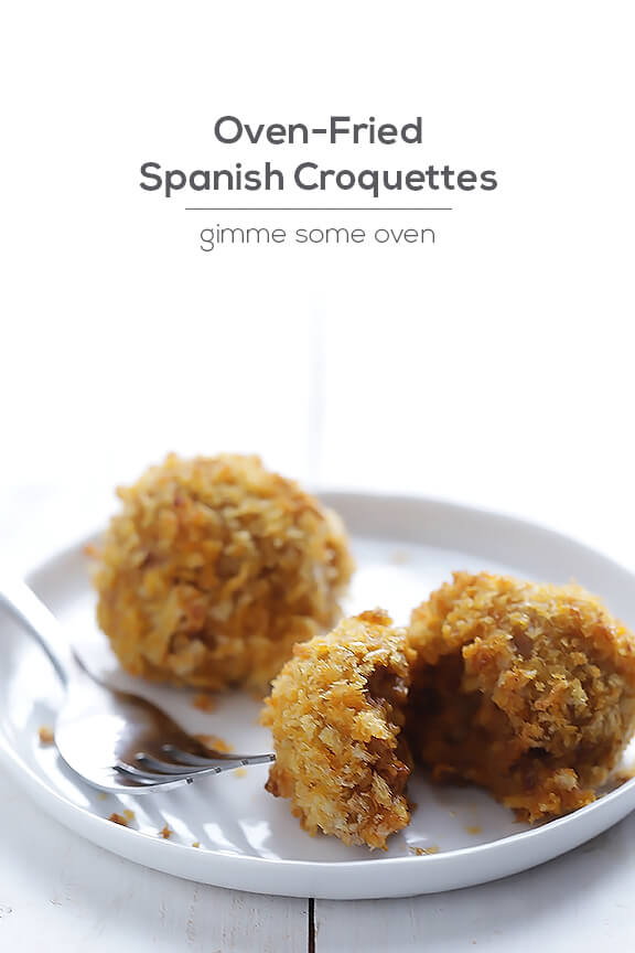 Oven-Fried Spanish Croquettes  gimme some oven