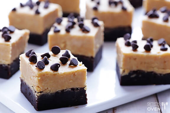 Peanut Butter Fudge Brownies | gimmesomeoven.com