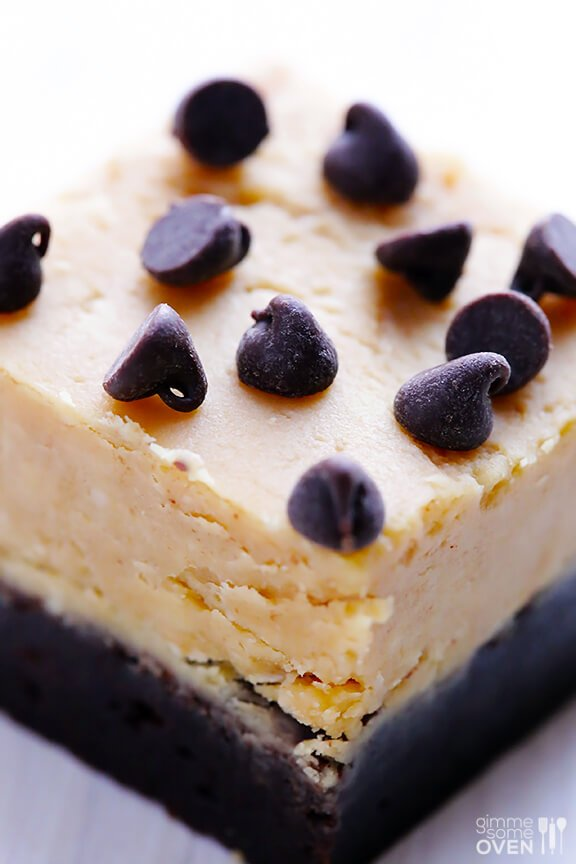 Peanut Butter Fudge Brownies   gimmesomeoven.com
