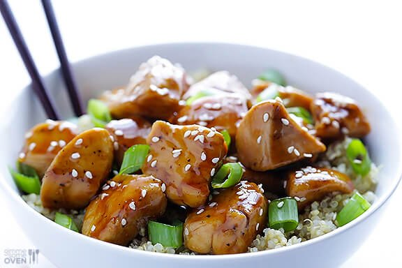 Sesame Chicken With Quinoa Gimme Some Oven