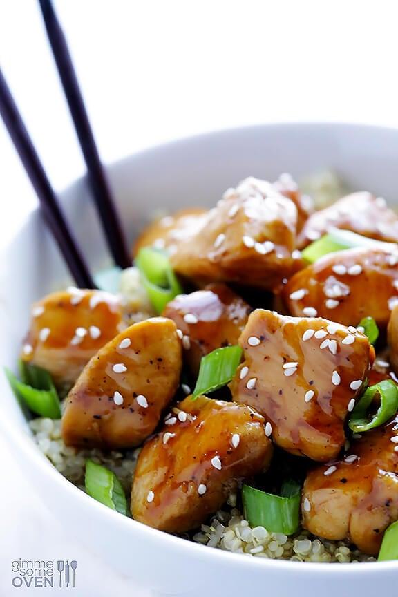 Healthier Sesame Chicken Recipe | gimmesomeoven.com