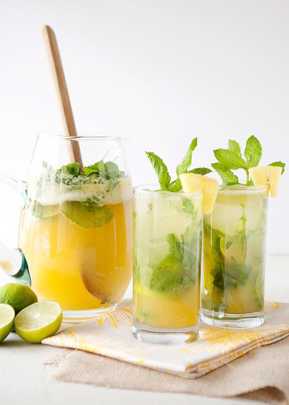 Pineapple Arugula Mojito   bakedbree.com