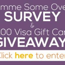 $100 Visa Giftcard Survey Giveaway | gimmesomeoven.com