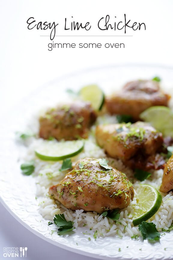 Easy Lime Chicken Recipe | gimmesomeoven.com