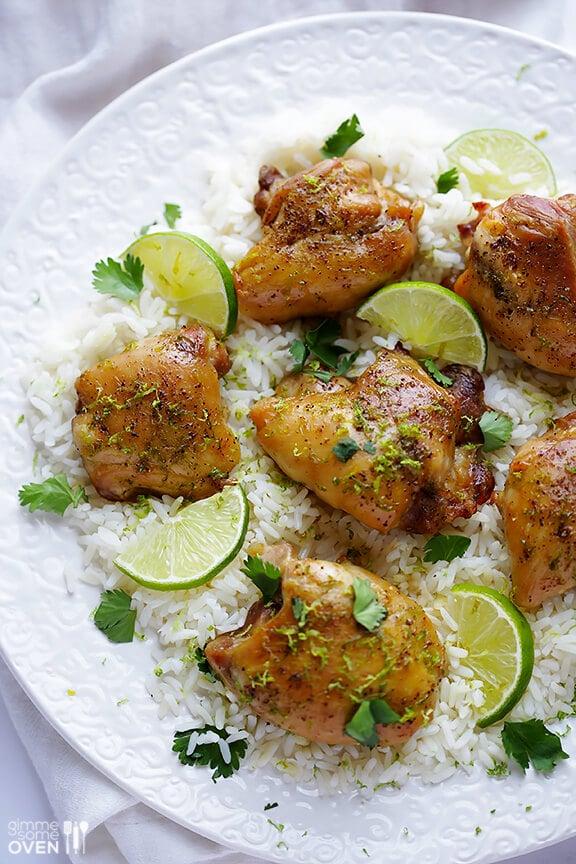 Easy Lime Chicken Recipe   gimmesomeoven.com