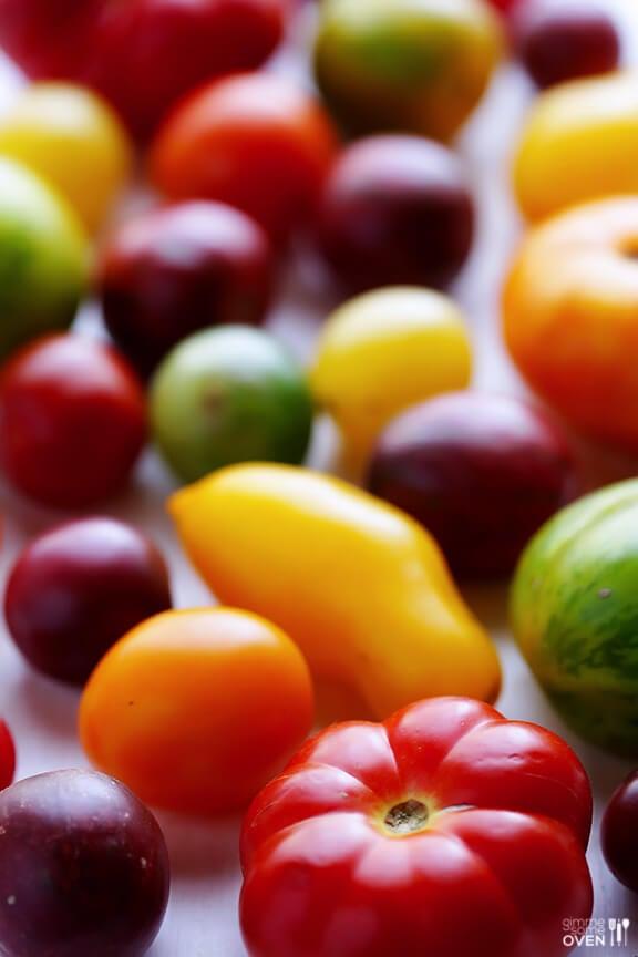Heirloom Tomato Pasta | gimmesomeoven.com