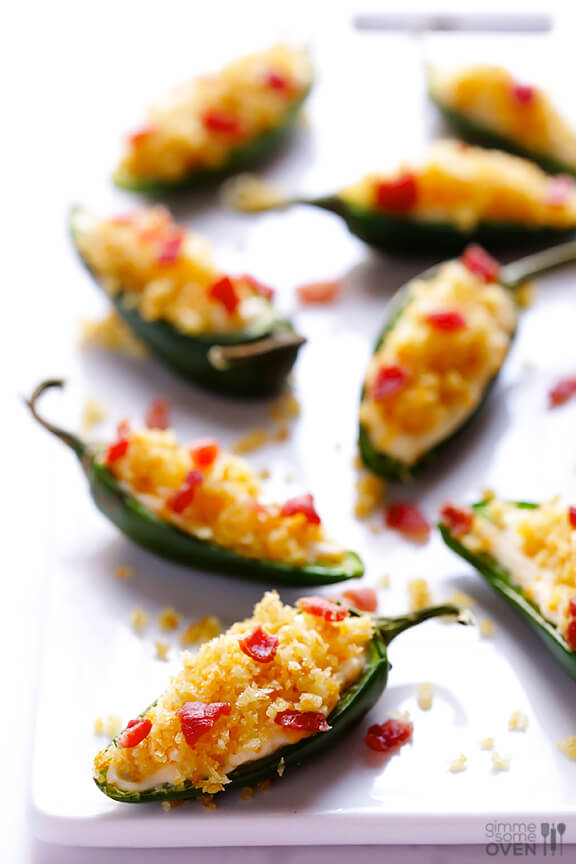 Lighter!) Jalapeno Poppers Recipe | gimmesomeoven.com