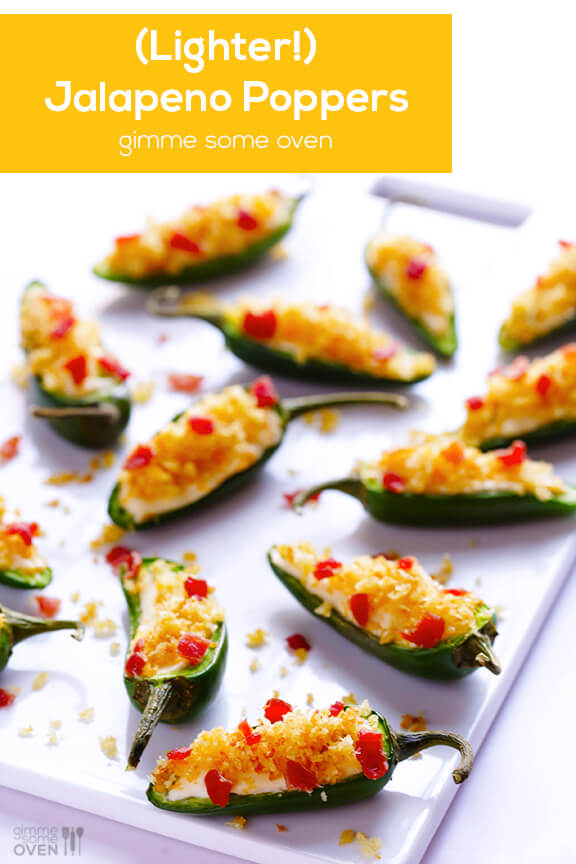 (Lighter!) Jalapeno Poppers Recipe | gimmesomeoven.com
