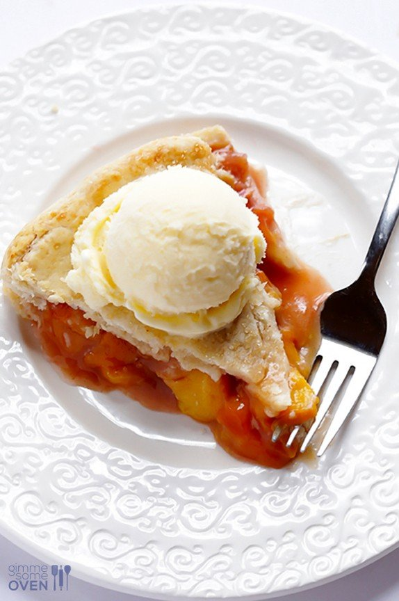 , the best part of this pie is hands-down that peach bourbon pie ...