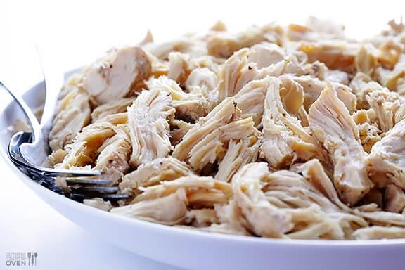 Easy Slow Cooker Shredded Chicken Gimme Some Oven