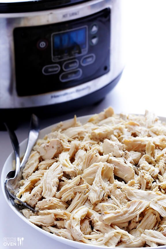 Easy Slow Cooker Shredded Chicken | gimmesomeoven.com