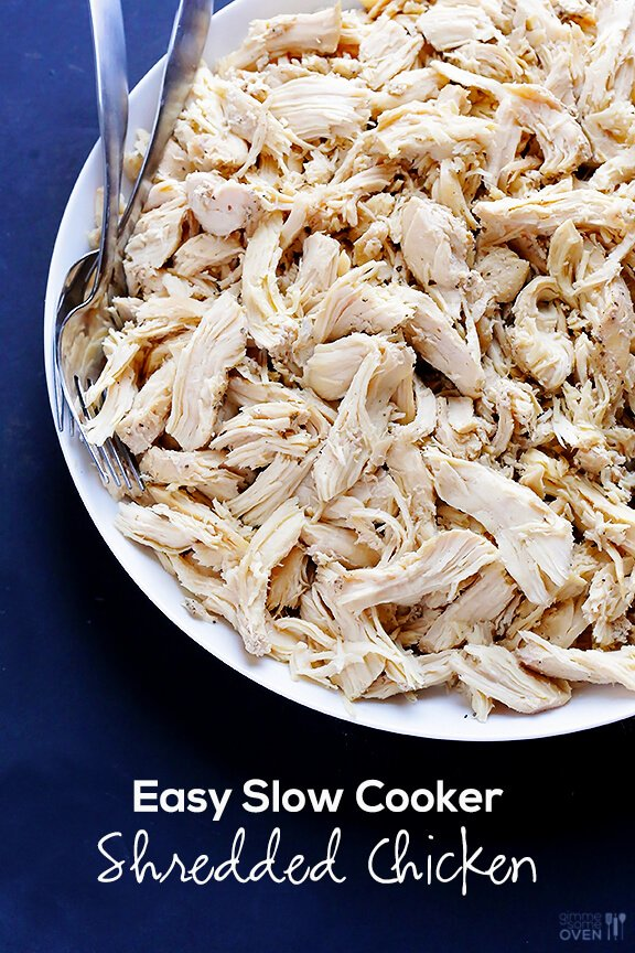 All-Purpose Slow Cooker Shredded Chicken | Crock Pot Recipes | Pinter ...