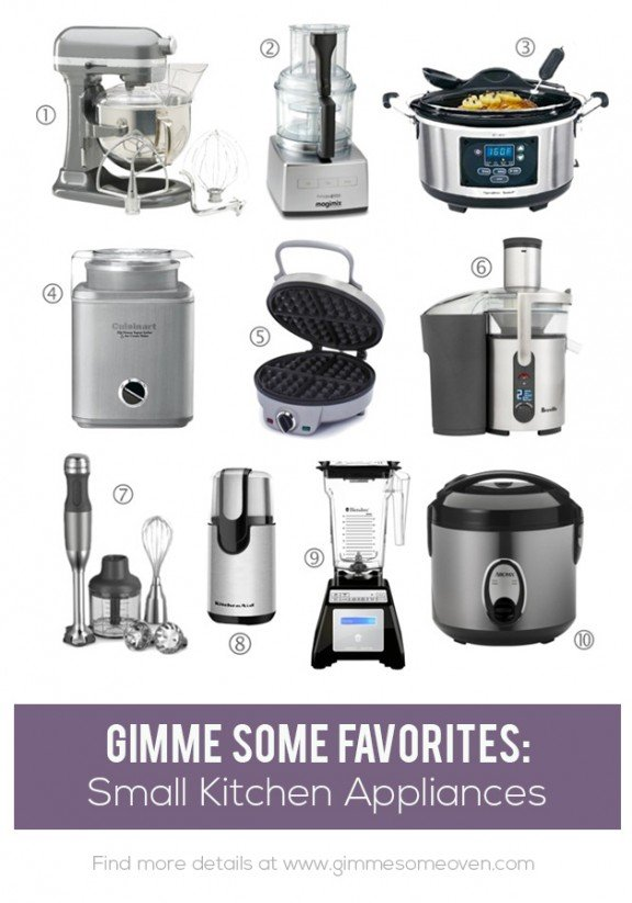 exceptional List Of Small Kitchen Appliances #3: Favorite Small Kitchen Appliances | gimmesomeoven.com