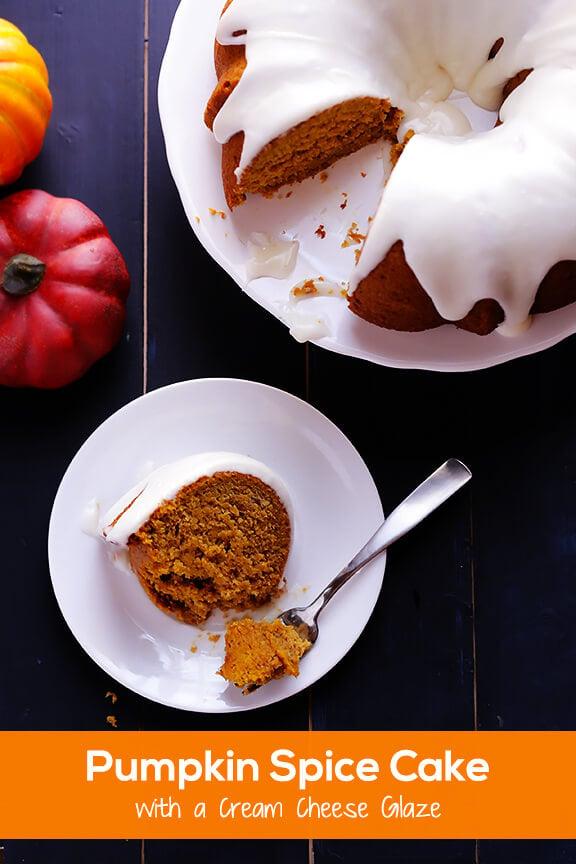 Pumpkin Spice Cake Recipe | gimmesomeoven.com