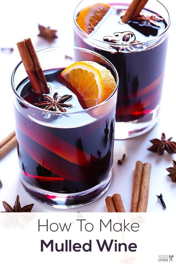 Mulled Wine Recipe | gimmesomeoven.com