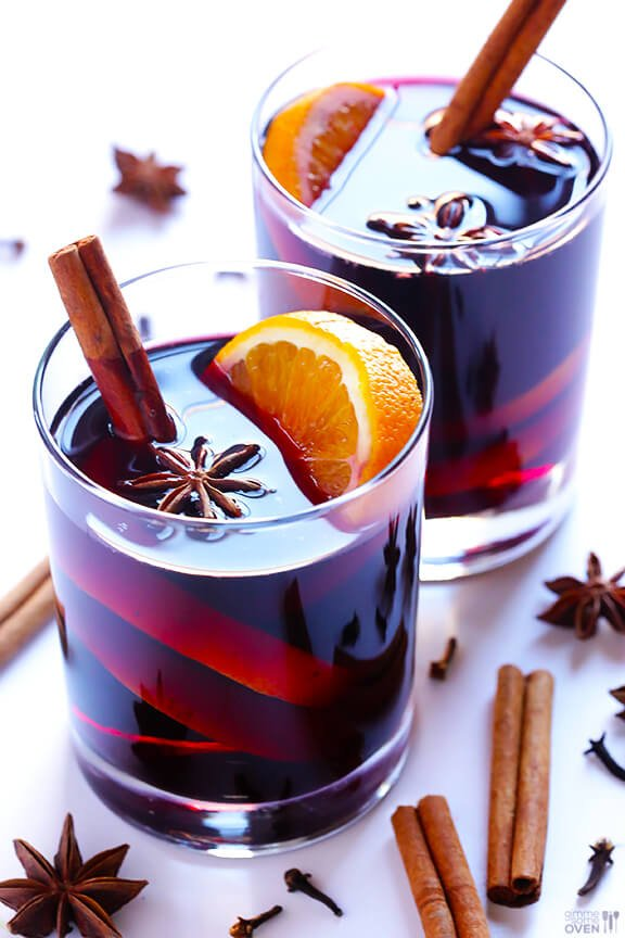 This classic Mulled Wine recipe is quick and easy to make, and the perfect drink for winter and holiday entertaining. Easy to make on the stove or slow cooker, seasoned with cinnamon and orange and spices, and so delicious! | Gimme Some Oven #gluhwein #mulled #wine #cocktail #holiday