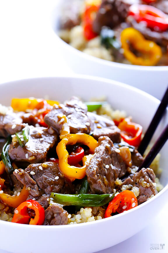 Pepper Steak Recipe | gimmesomeoven.com