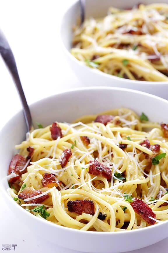 Spaghetti Carbonara | gimmesomeoven.com