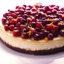 Cranberry Orange Cheesecake 1
