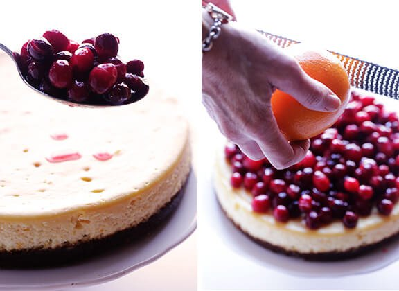 Cranberry Orange Cheesecake Recipe | gimmesomeoven.com