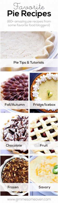 60+ Favorite Pie Recipes | gimmesomeoven.com
