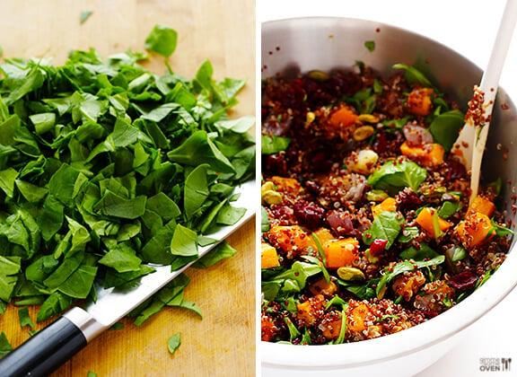 Quinoa Stuffing (Butternut Squash Quinoa w/ Cranberries & Pistachios)