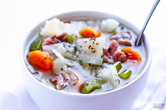 Cabbage & Ham Soup | gimmesomeoven.com