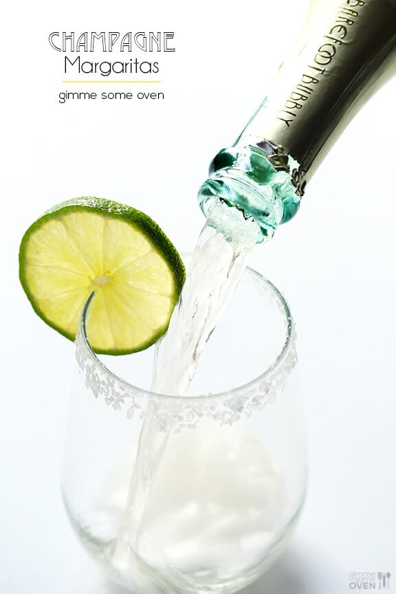 Sparkling Margaritas (Champagne Margaritas) | Gimme Some Oven