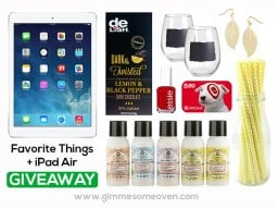 My Favorite Things + iPad Giveaway