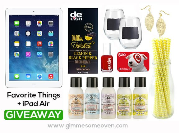 My Favorite Things & iPad GIVEAWAY | gimmesomeoven.com #giveaway