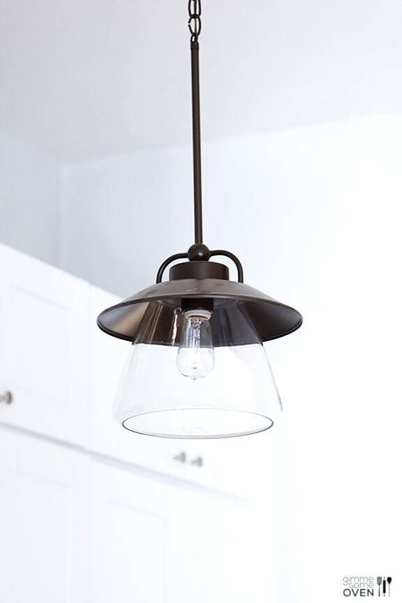 pendant light with clear shade it s basically the same light but. Black Bedroom Furniture Sets. Home Design Ideas