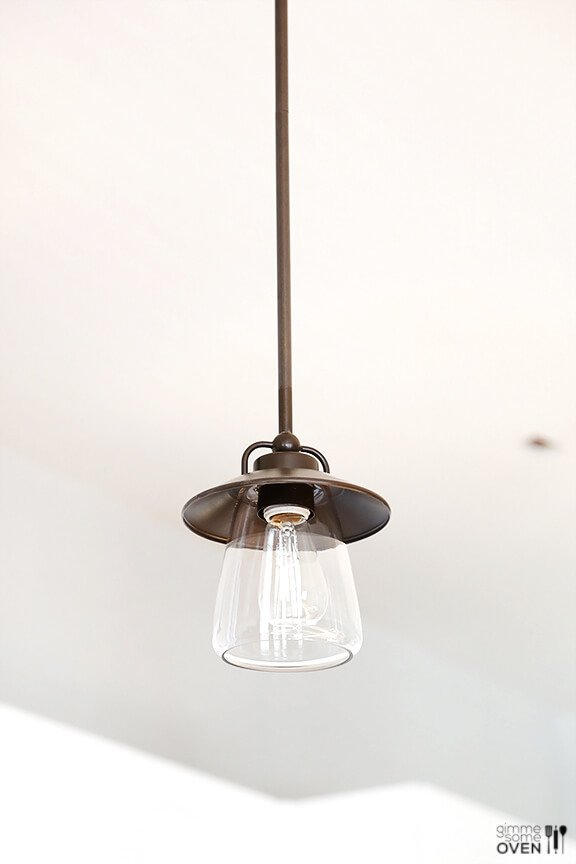 edison style mission bronze mini pendant light with clear shades