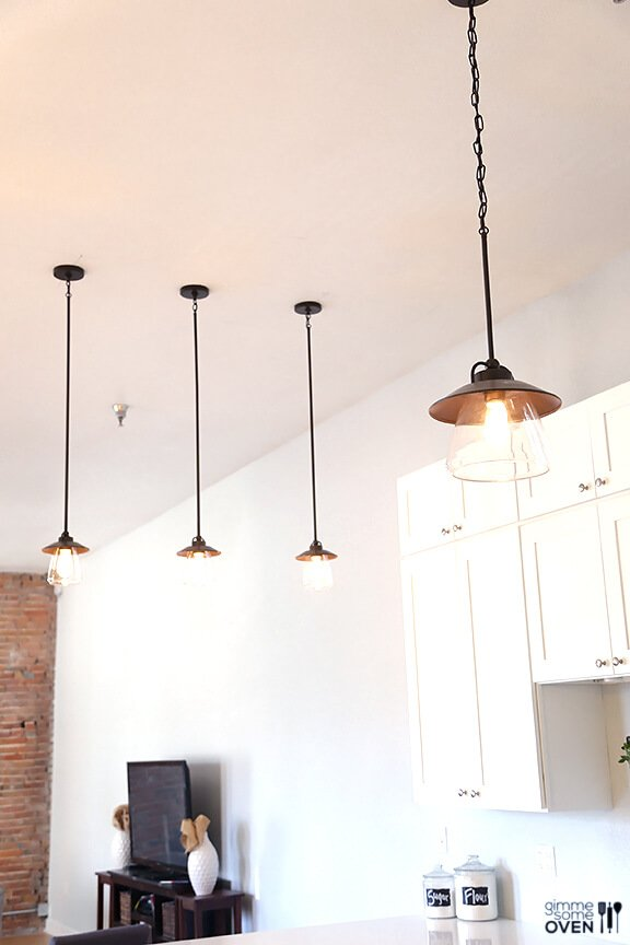 Kitchen Remodel Lighting and Flooring from Lowe s